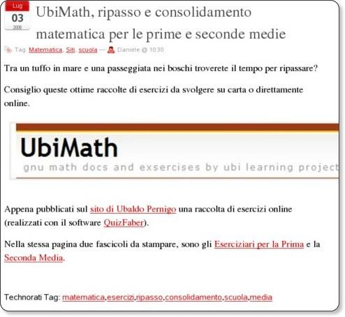 http://lnx.sinapsi.org/wordpress/2008/07/03/ubimath-ripasso-e-consolidamento-matematica-per-le-prime-e-seconde-medie