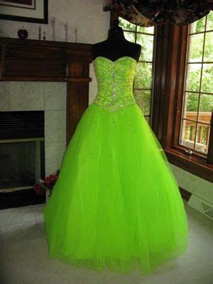 tiffany  neon lime  ball gown dress