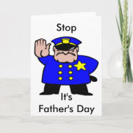 Policeman - Father's Day card