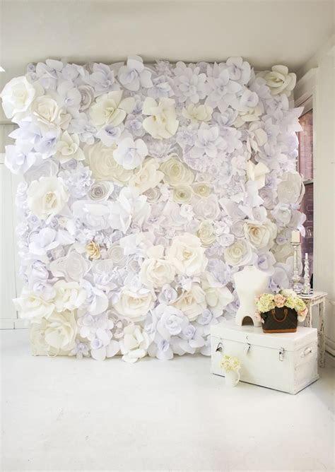 DIY Paper Flower Wall   Stuff to Buy   Flores de Papel