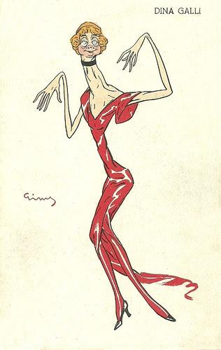 Dina Galli caricature