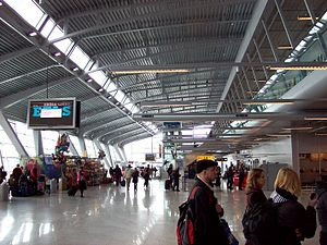 Airport terminal at the Eindhoven Airport