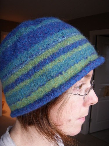 the hat: final felting