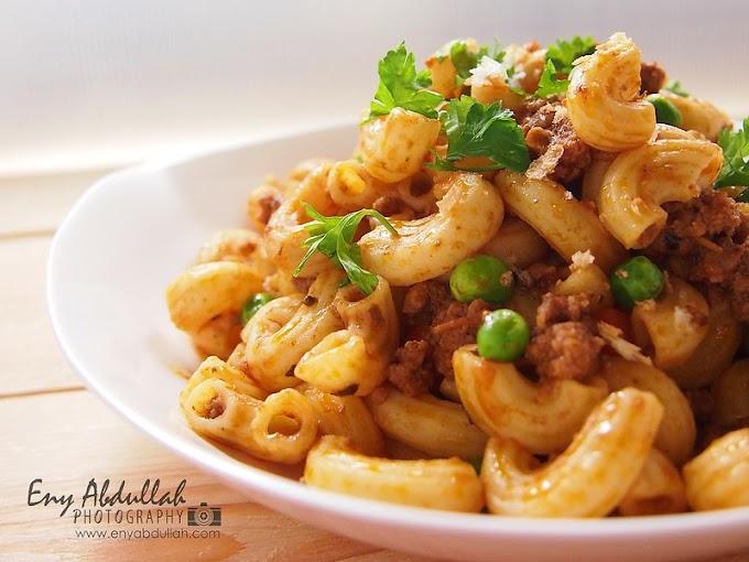 Macaroni Goreng Daging Cincang