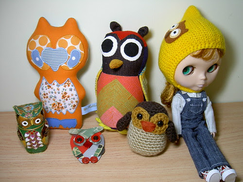 This is part of my owl collection