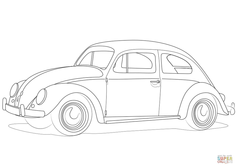 volkswagen kever kleurplaat