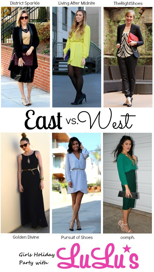 Living After Midnite: East vs. West Style Holiday Girls Night Out