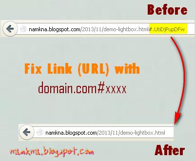Xóa ký tự lạ sau link bài viết blogspot