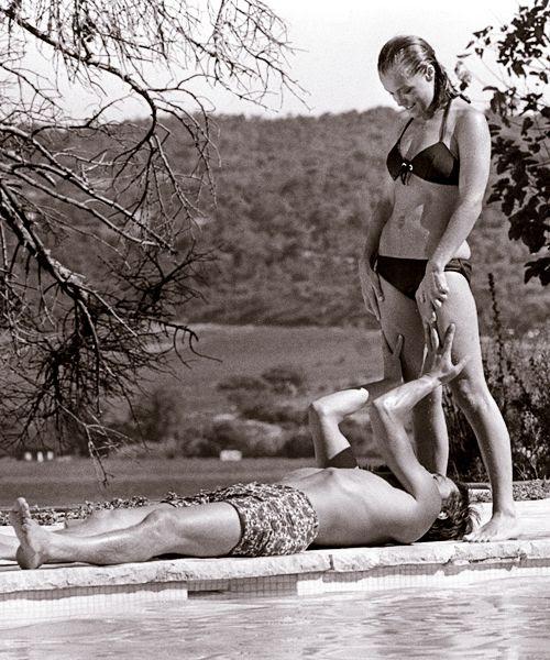 Romy Schneider y Alain Delon
