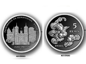 Moeda comemorativa de Ouro Preto