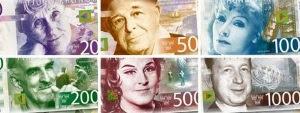 Våra nya sedlar
