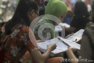 Learning Make Batik Editorial Stock Photo  Image: 39307978