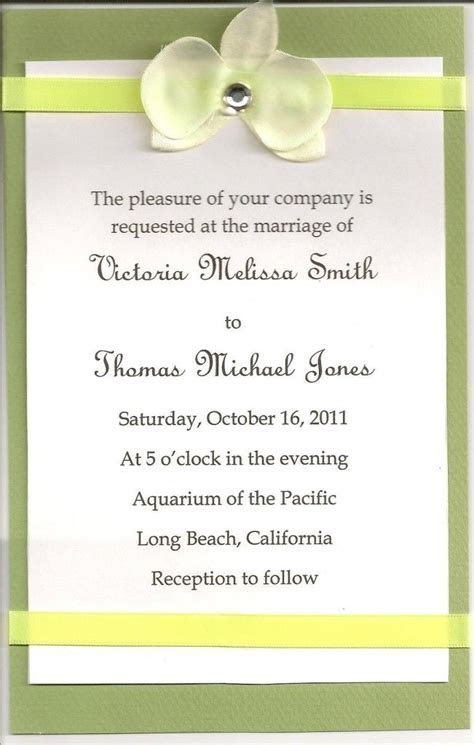 Sample wedding invitation text   Invitations wording