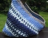 Fashion Crochet Neckwarmer / Cowl - Blue Grey - OOAK - Gift Idea