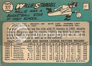 #377 Willie Stargell (back)