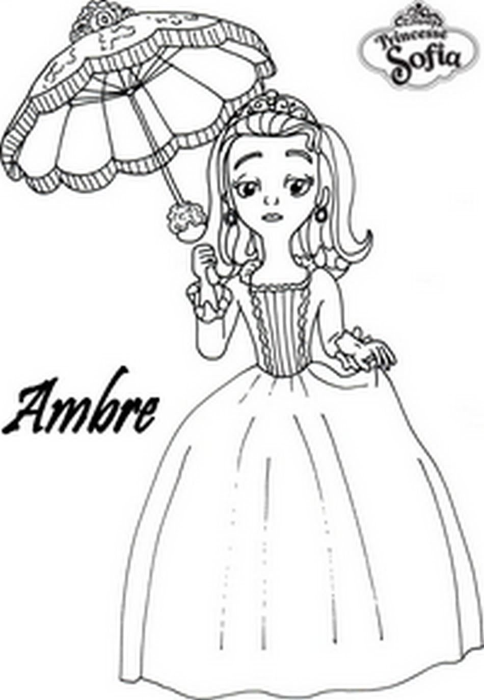 finest coloriage princesse sofia ambre with coloriage princesse gratuit imprimer