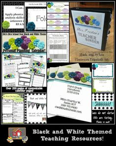 Black and White Theme Classroom Essentials Set on Pinterest