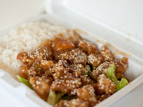 Sesame chicken (Kim's Oriental)