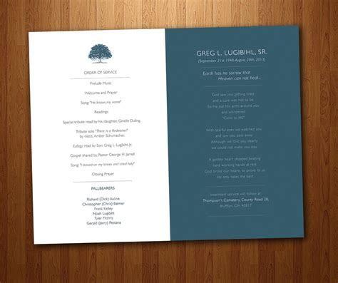 Funeral Program for Memorial Order of Service   PDF
