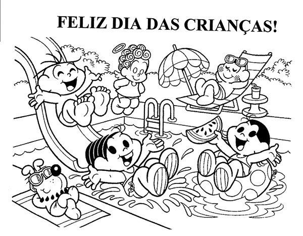 521930 Dia das crianças desenhos para colorir 4 Dia das crianças: desenhos para colorir