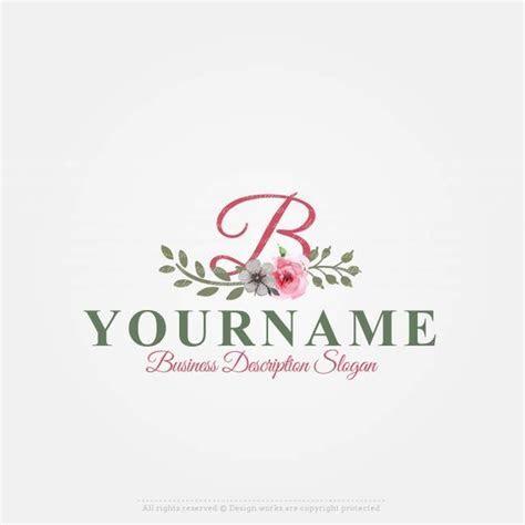 Online Free Logo Maker   Vintage Flowers logo design