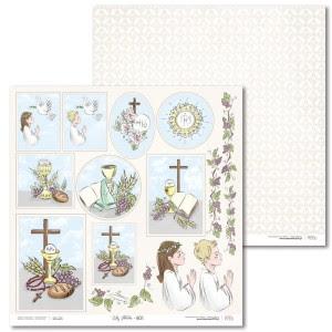 Papier 30 x 30 cm - Lily Flower - Extra - E01 - Laserowe LOVE