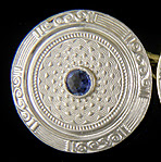 Art Deco sapphire cufflinks. (J9173)
