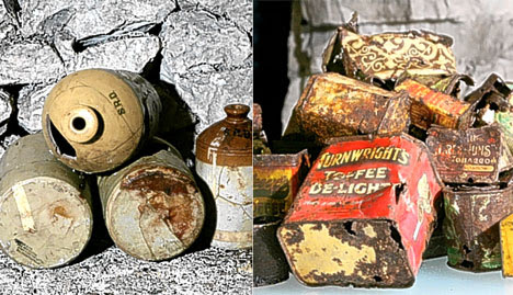 Toffee delight: Remains of soldiers' food and drink