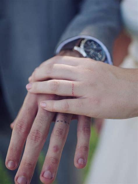 35 Romantic Wedding Ring finger Tattoo designs and ideas