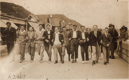 mob of lads, North Bay, Scarborough