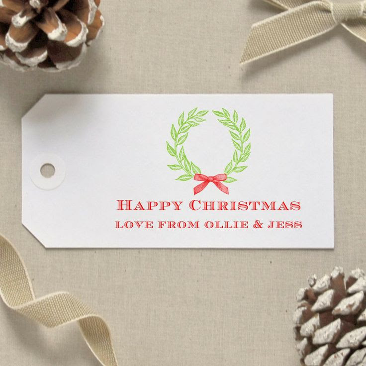 Christmas Wreath Gift Tags