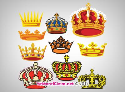 Vektörel çizim Kral Tacı