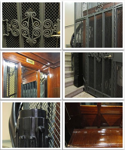 art nouveau elevator of a museum by Anna Amnell