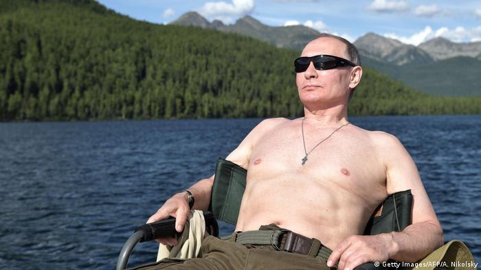 Russland Putin im Urlaub August 2017 (Getty Images/AFP/A. Nikolsky)