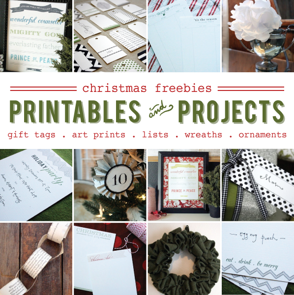 free Christmas printables and projects