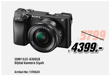 SONY ILCE-6300LB Dijital Kamera Siyah 4399TL