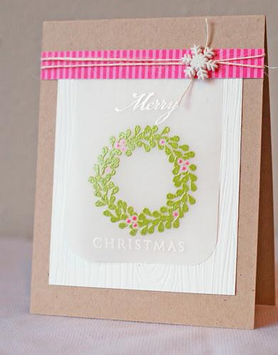 Wreath_pinkgreen_Merry Christmas_2013_02