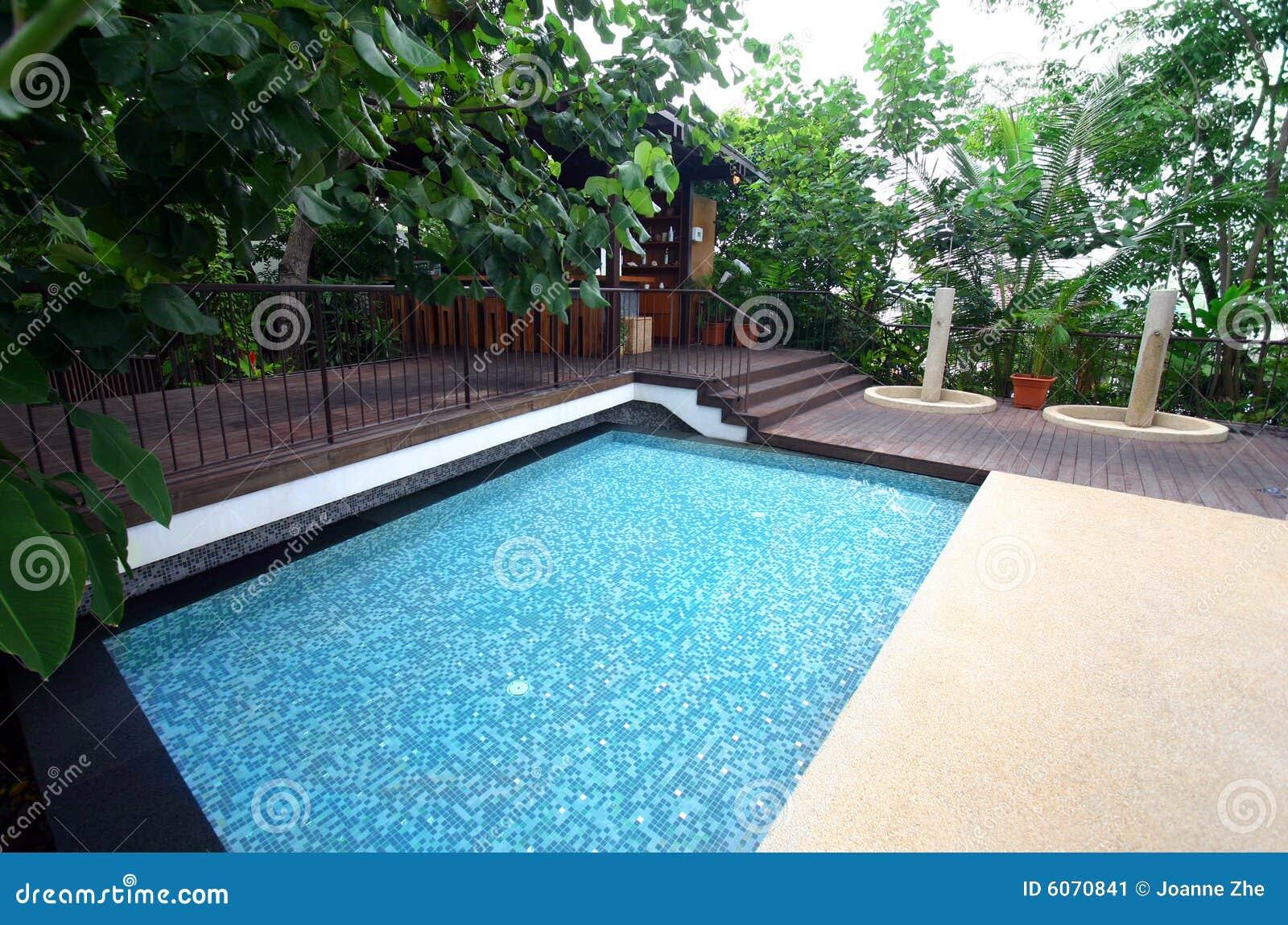 Hotel Resort Swimming Pool & Bar, Tropical Stock Image - Image ...