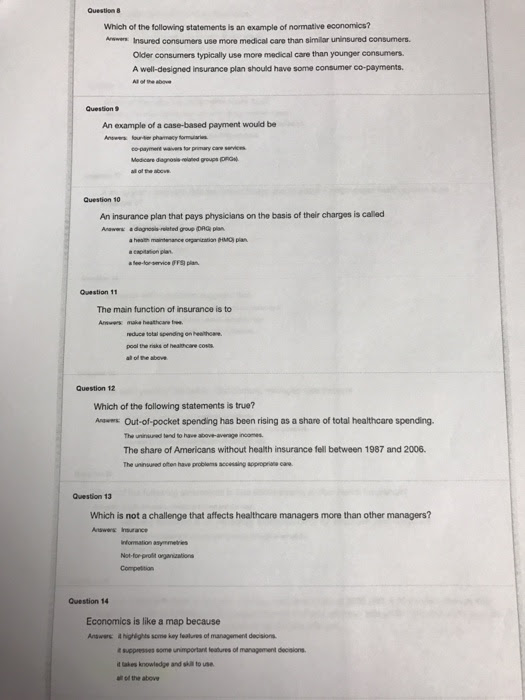 Solved: Which Of The Following Statements Is An Of Normati ...