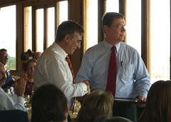 Mayor Molina and President of Coucil Ludeman at a Luncheon