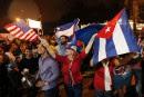 Décès de Fidel Castro: les Cubains de Miami en liesse