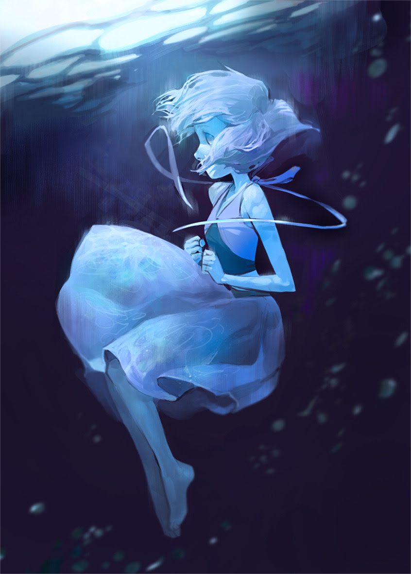 Picture of Lapis Lazuli that I streamed today. Thanks everyone who came to make me a company)