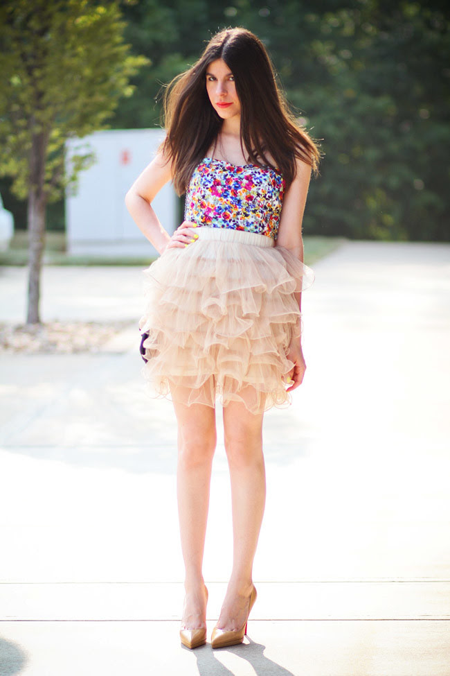 Carrie Bradshaw tutu, Sex and the City inspired fashion, Christian Louboutin Pigalle, ballerina style, ballet