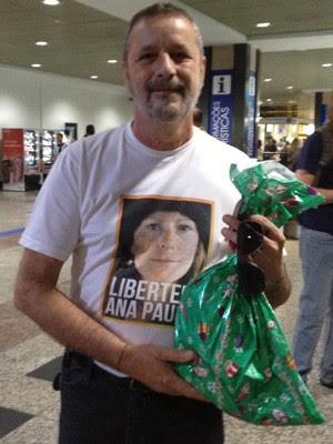 Pai da ativista gaúcha Ana Paula, Jaires Maciel (Foto: Rafaella Fraga/G1)
