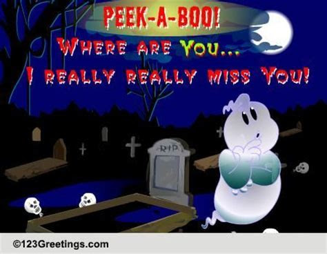 I Really Miss You On Halloween  Free Miss You eCards