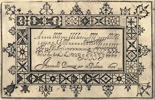 Bertozzi + Zanilla 1604 Lace Typography