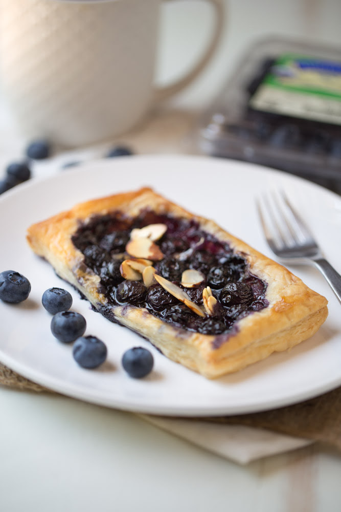 Blueberry Brie Pastry Tarts | This Gal Cooks