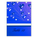 Blue Hearts Table Seating Card