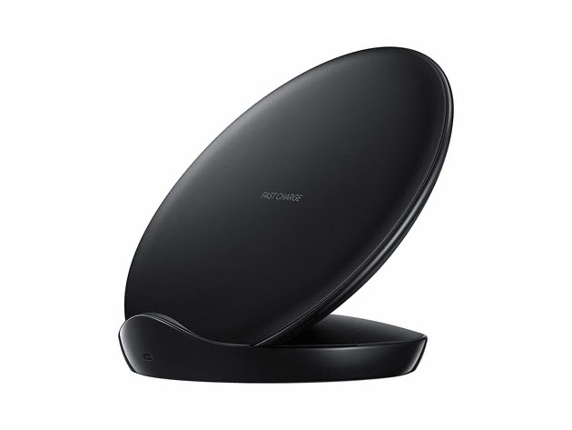 Samsung Qi Certified Fast Charge Wireless Charger Stand (2018 Edition) - US Version - Black (Renewed) for $29