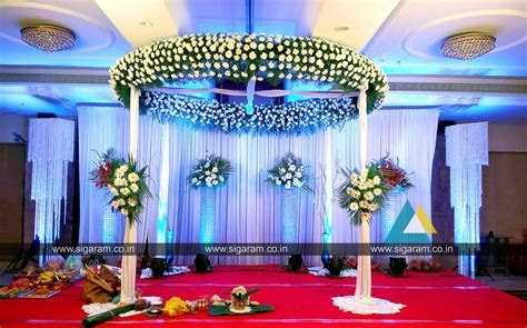 Reception and Wedding stage decoration at Accord Hotel